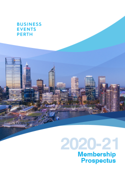 Business Events Perth Membership Prospectus 2020-21