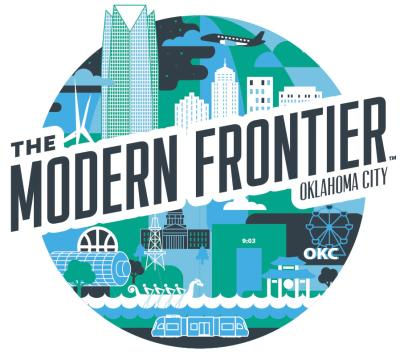"Preview of OKC's ""The Modern Frontier"" campaign art"