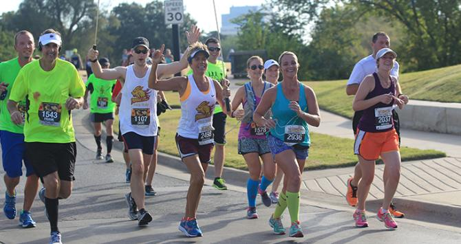 Prairie Fire Marathon Register - runners and local joes take on the flat, fast track in downtown wichita ks