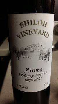A bottle of wine from Coffee Wine Shiloh Vineyard in WaKeeney, KS
