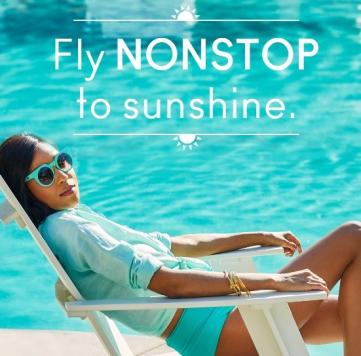 Social media airline ad