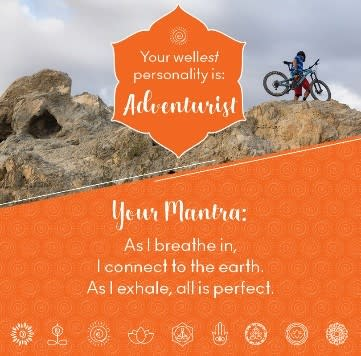 Adventurist wellness mantra