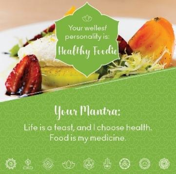 Healthy foodie wellness mantra