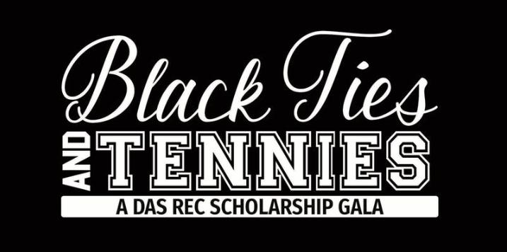 black ties and tennies
