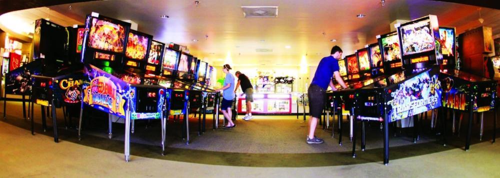 People playing games at Pinballz Arcade in austin texas