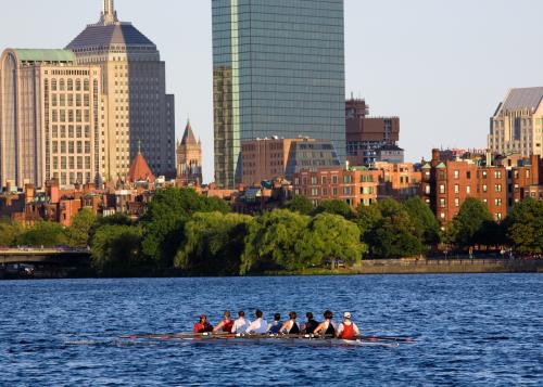 Rowers on Charles