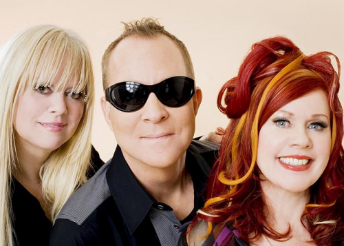 Promotional photo for the B-52s