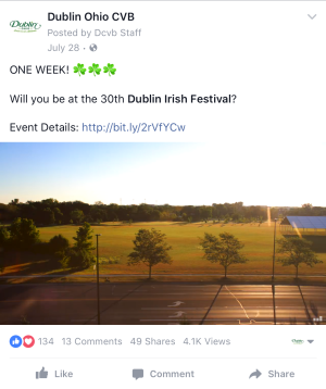 Dublin Irish Festival Video Facebook
