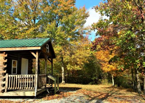Exterior of a Deam Lake Cabin in the fall