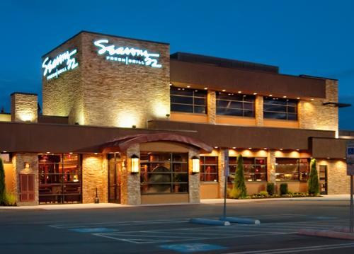 The entrance to seasons 52 restaurant