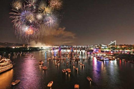 Riverbend fireworks