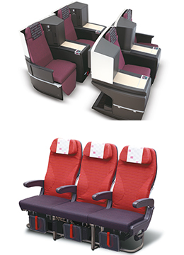 Japan Airlines seats
