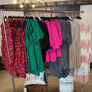 clothing rack at Walker Lane Boutique
