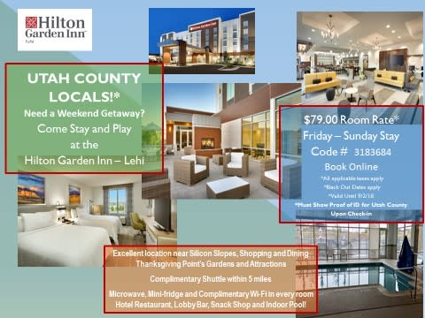 Local Deals at New Hilton Garden Inn in Lehi