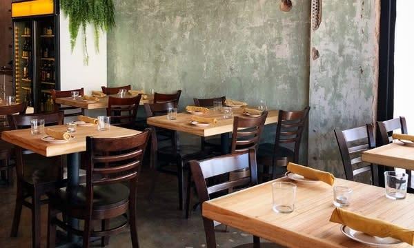 Interior of Nancy's Hustle restaurant