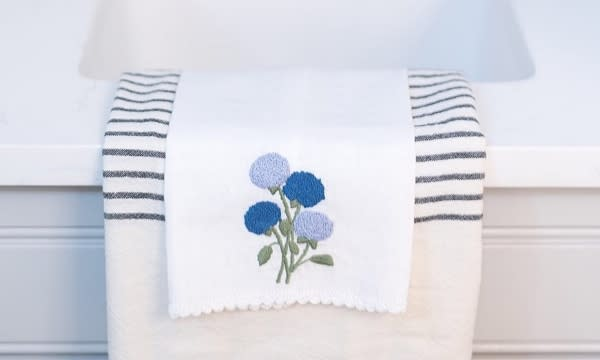 Hydrangea Hand Towel from Hibiscus Linens