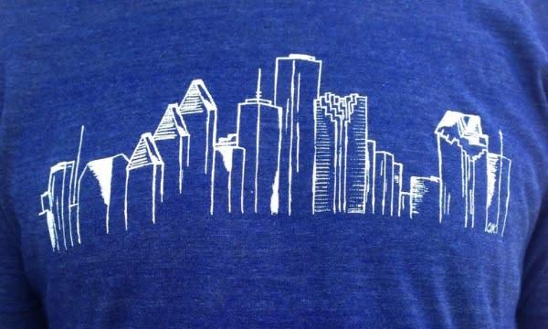 Houston Skyline Tee by Christina Kuehler