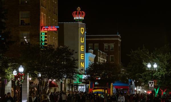 Lights On! Downtown Bryan Crowd