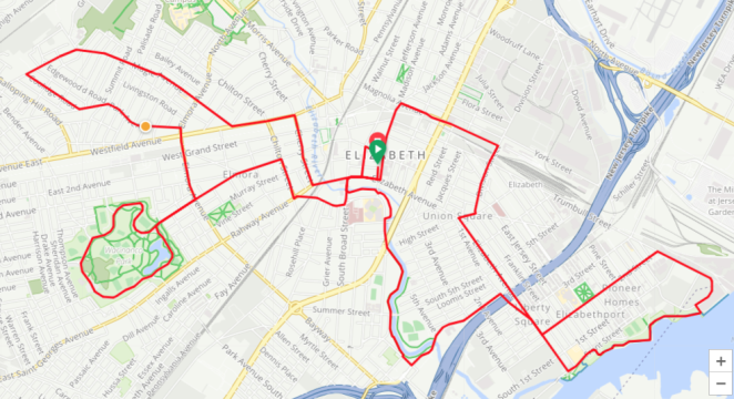 Tour de Elizabeth 2019 Bike Route