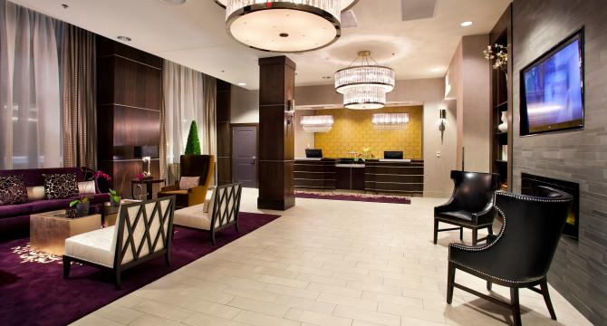 A photo of the lobby at the Ambassador hotel in Wichita