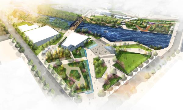 Promenade Park Rendering in Fort Wayne, Indiana