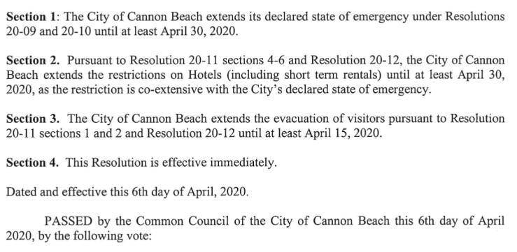 City Resolution 20-14