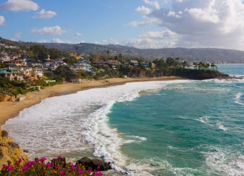view of Laguna Beach from Crescent Cove, picture