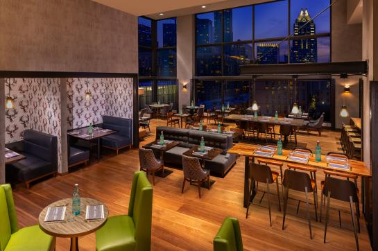 Hilton Austin Cannon + Belle Restaurant Open Air Seating with View