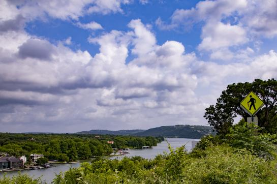 AO Tours Austin passing view of Lake Austin