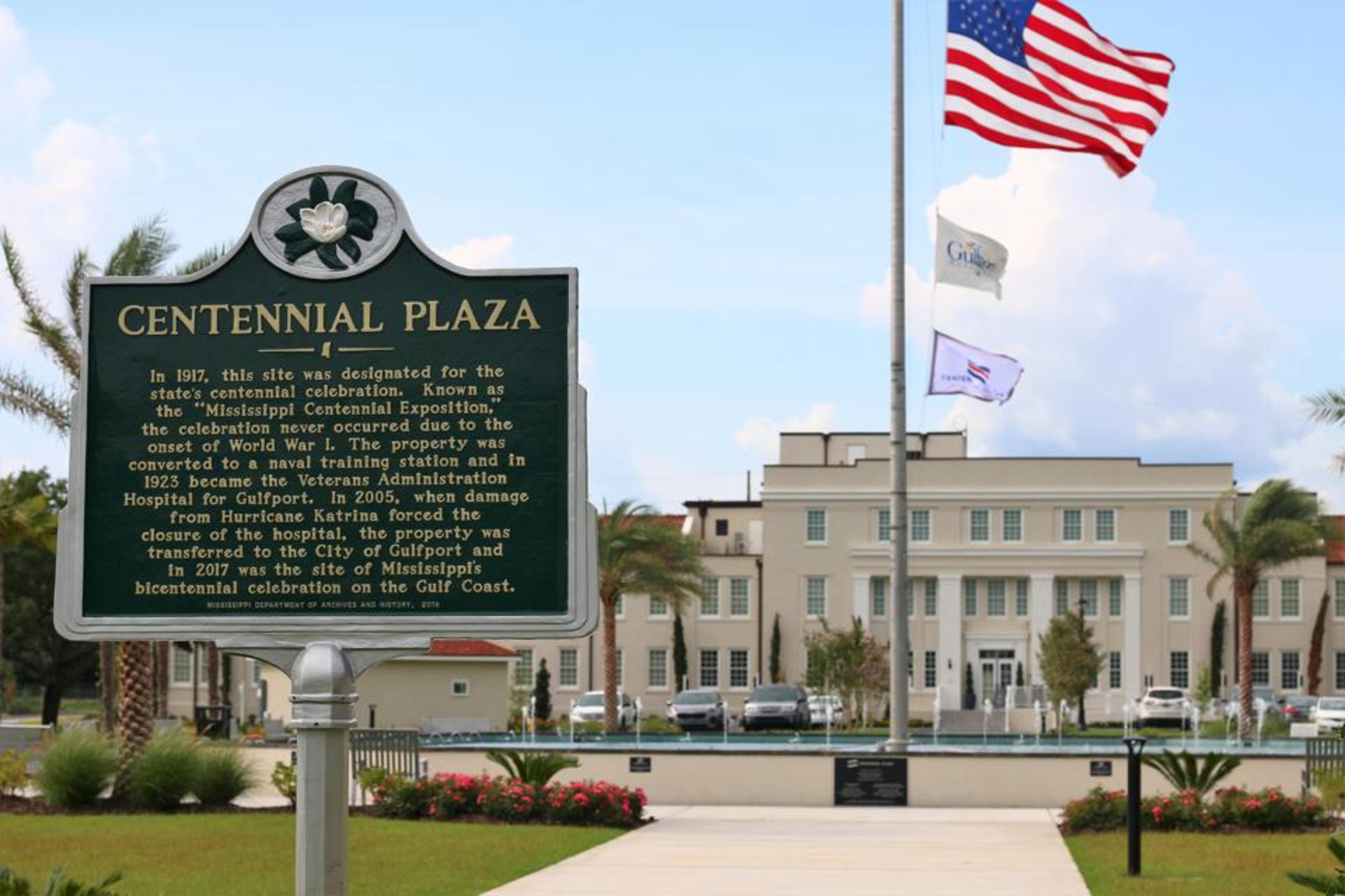 Mississippi Historical Marker at Grand Centennial Hotel in Gulfport