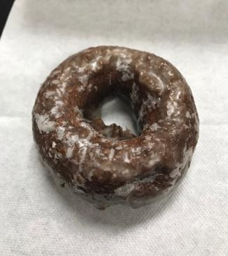 The devil's food cake donut at Red's Donuts.