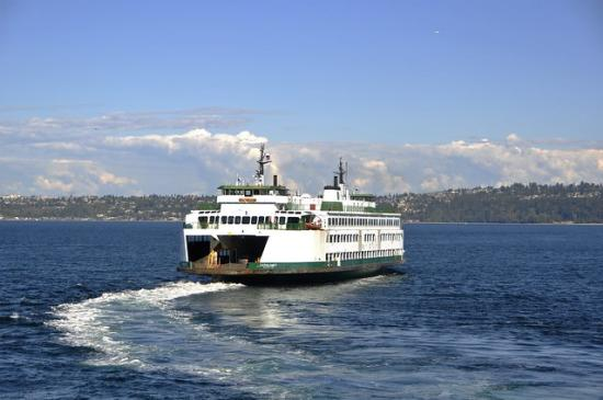 Washington State Ferry Cathlamet Departing Vashon Island