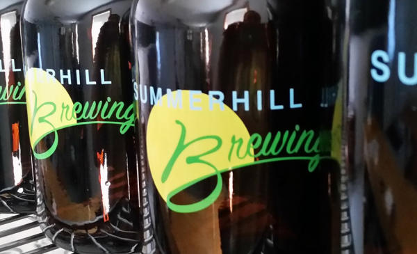 Summerhill Brewing bottles with logo
