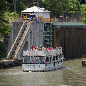 Lockport Locks on Erie Canal, Lockport, NY- Niagara County