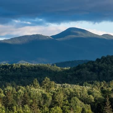 View of Algonquin, Mount Marcy High Peak area from Lake Placid,  Essex County- Adirondack Region