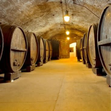 Barrels at Brotherhood Winery in Washingtonville, New York