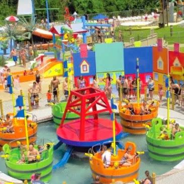 SplashDown Beach Water Park bucket ride for kids