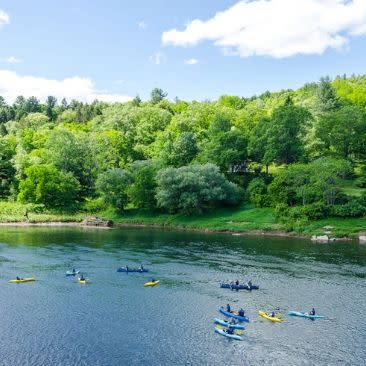 Kayaks on Upper Delaware River with Lander's River Trips, Narrowsburg