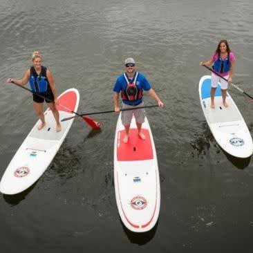 Paddleboarding at Canoe & Kayak Rentals and Sales