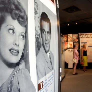 Display case at Lucy Desi Museum & Center for Comedy