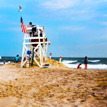 Lifeguard stand at Jones Beach
