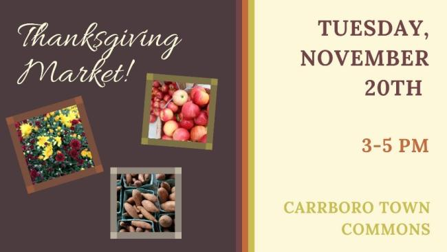 Thanksgiving Market announcement