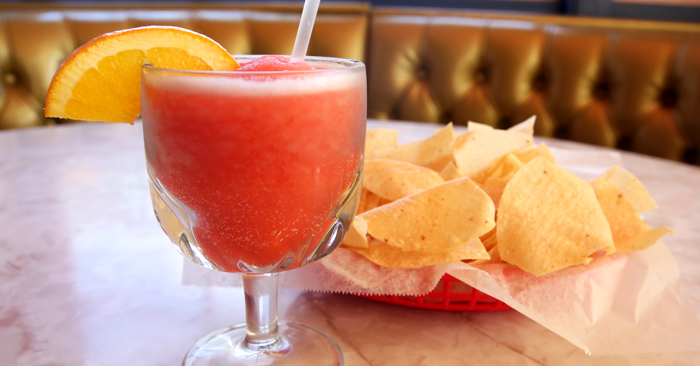 Frozen Blood Orange Margarita at Chuy's