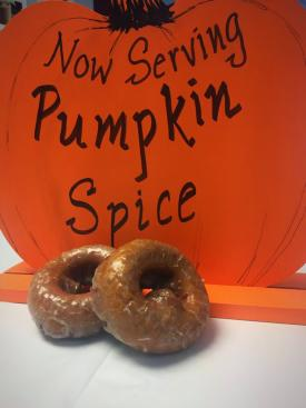 You'll definitely want to try Pumpkin Spice Cake Donuts at Red's Donuts.