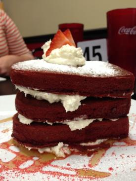 Layered red velvet cake from Superchef's