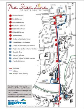 Star Line Trolley Map