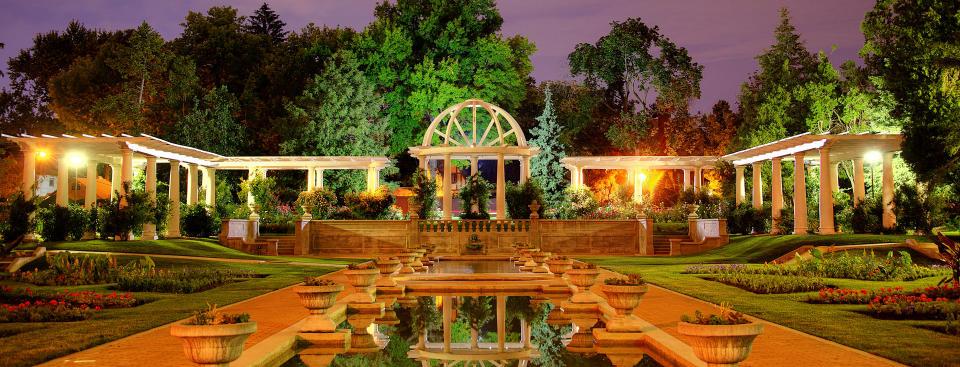 Lakeside Park Rose Garden at Night