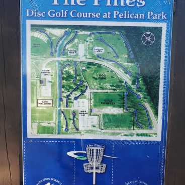 The Pines Pelican Park Disc Golf Course Map