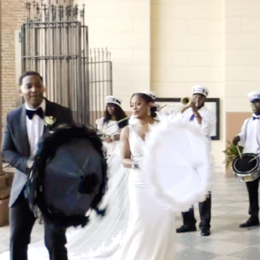 Brass Band New Orleans Wedding Second-line