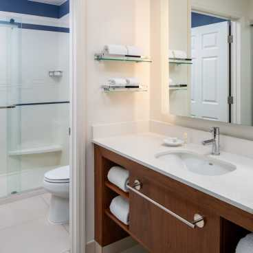 Studio Suite Bathroom - Walk-In Shower